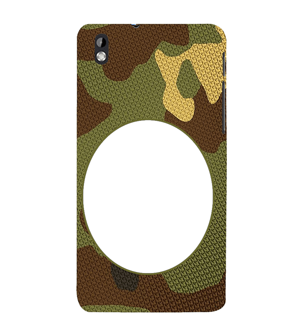 Camouflage Photo Back Cover for HTC Desire 816