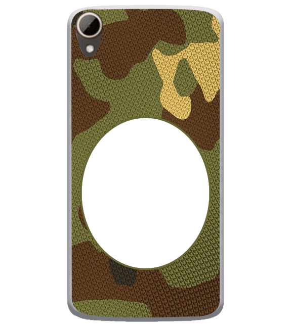 Camouflage Photo Back Cover for HTC Desire 828