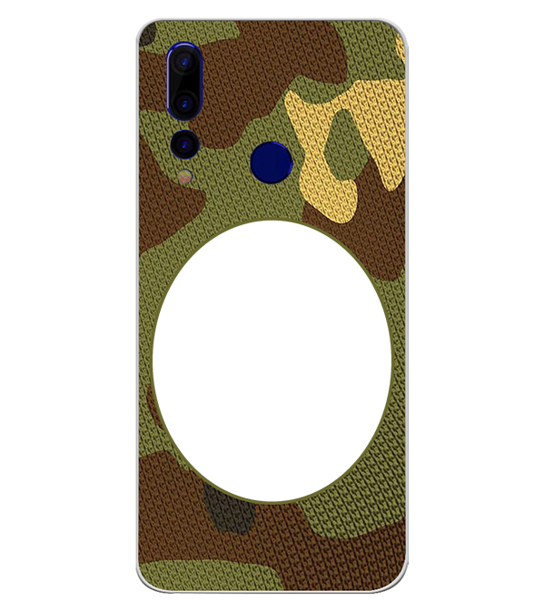 Camouflage Photo Back Cover for HTC Wildfire X