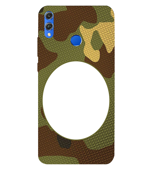 Camouflage Photo Back Cover for Huawei Honor 8X