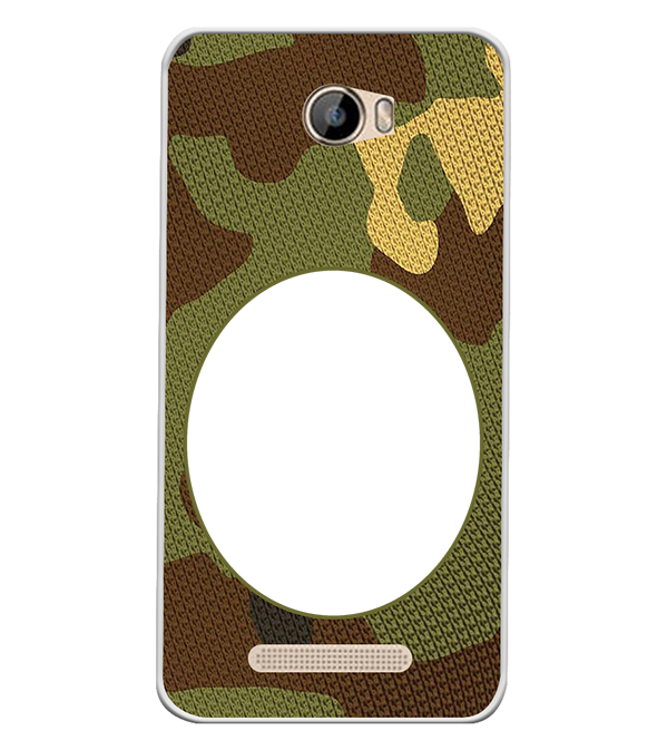 Camouflage Photo Back Cover for Intex Aqua 5.5 VR