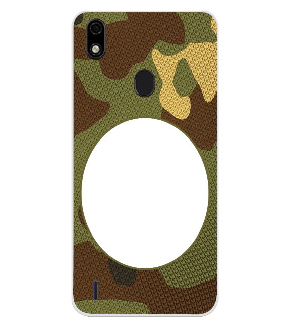 Camouflage Photo Back Cover for Lava Z52 Pro