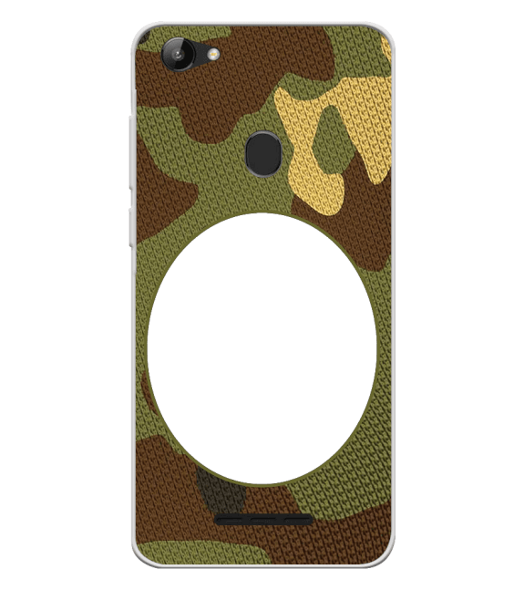 Camouflage Photo Back Cover for Lava Z81