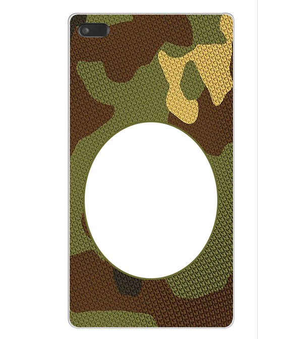 Camouflage Photo Back Cover for Lenovo Tab 7