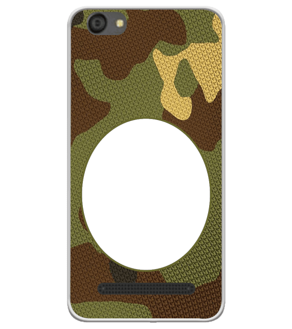 Camouflage Photo Back Cover for LYF Flame 5