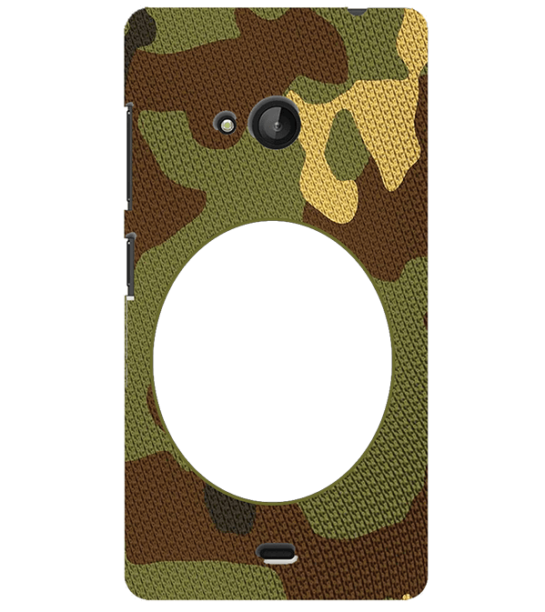 Camouflage Photo Back Cover for Microsoft Lumia 540