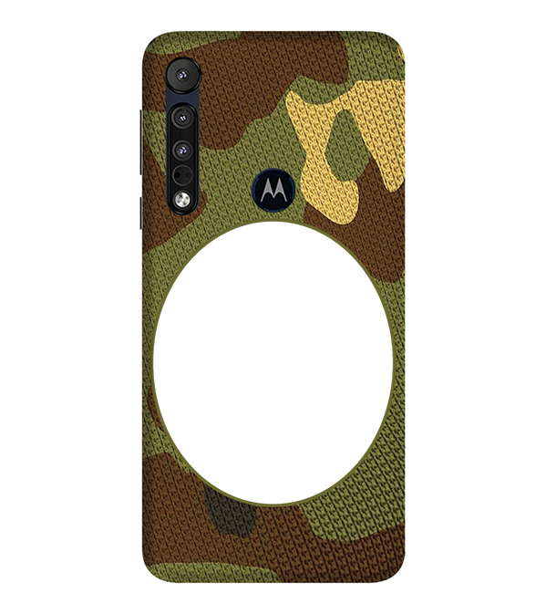 Camouflage Photo Back Cover for Motorola One Macro