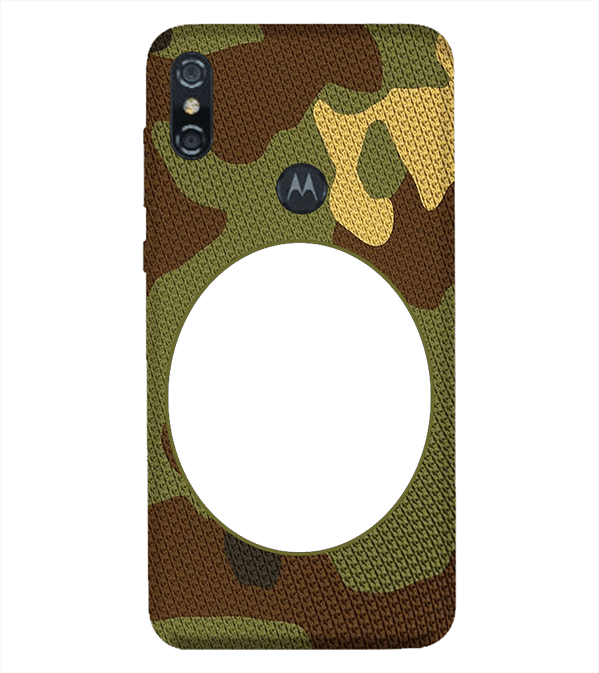 Camouflage Photo Back Cover for Motorola One (P30 Play)