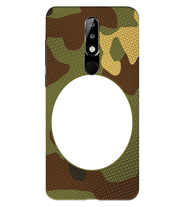 Camouflage Photo Back Cover for Nokia 5.1 Plus (Nokia X5)