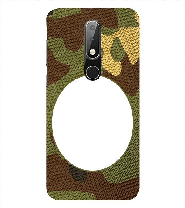 Camouflage Photo Back Cover for Nokia 6.1 (2018)