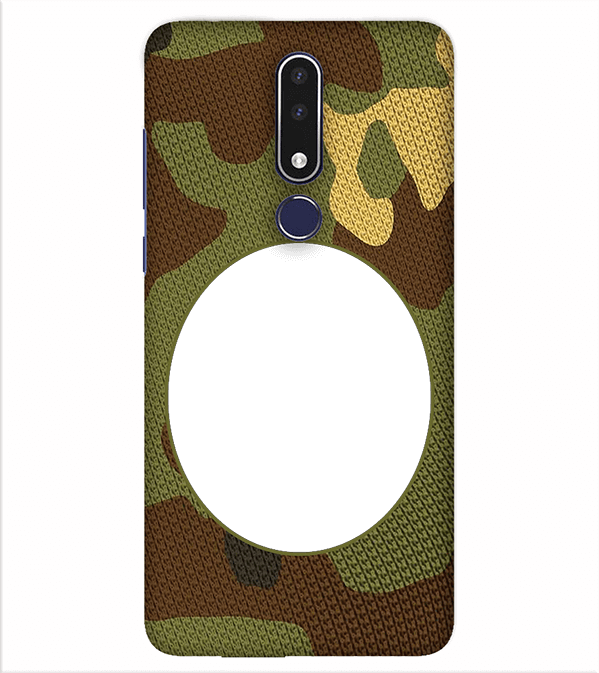 Camouflage Photo Back Cover for Nokia 7.1
