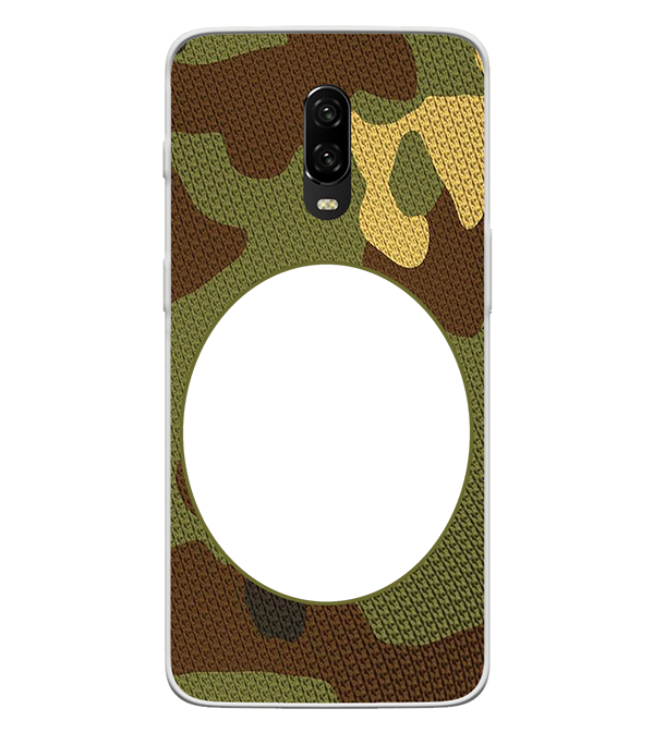 Camouflage Photo Back Cover for OnePlus 6T