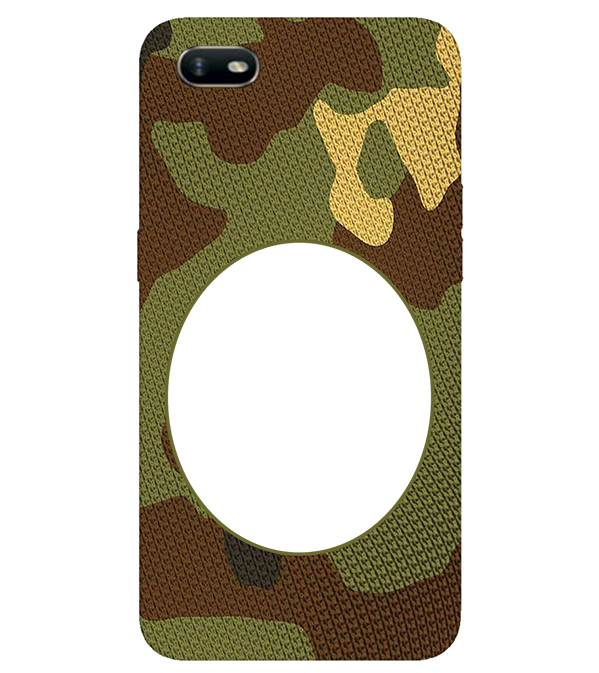 Camouflage Photo Back Cover for Oppo A1k