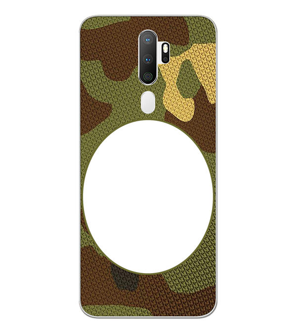 Camouflage Photo Back Cover for Oppo A5 (2020)
