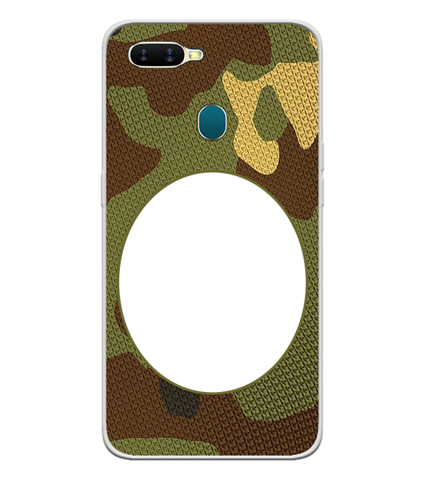 Camouflage Photo Back Cover for Oppo A7