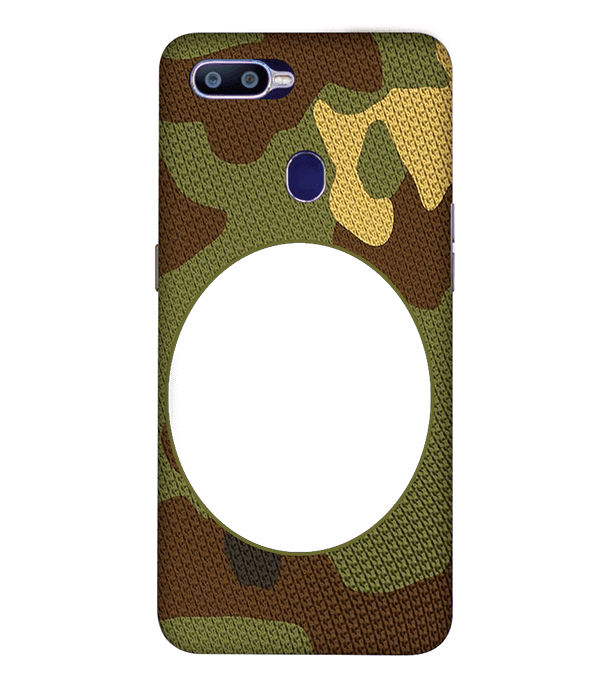 Camouflage Photo Back Cover for Oppo R15 Pro