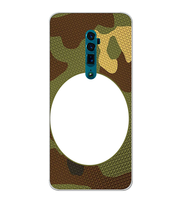 Camouflage Photo Back Cover for Oppo Reno 10x zoom