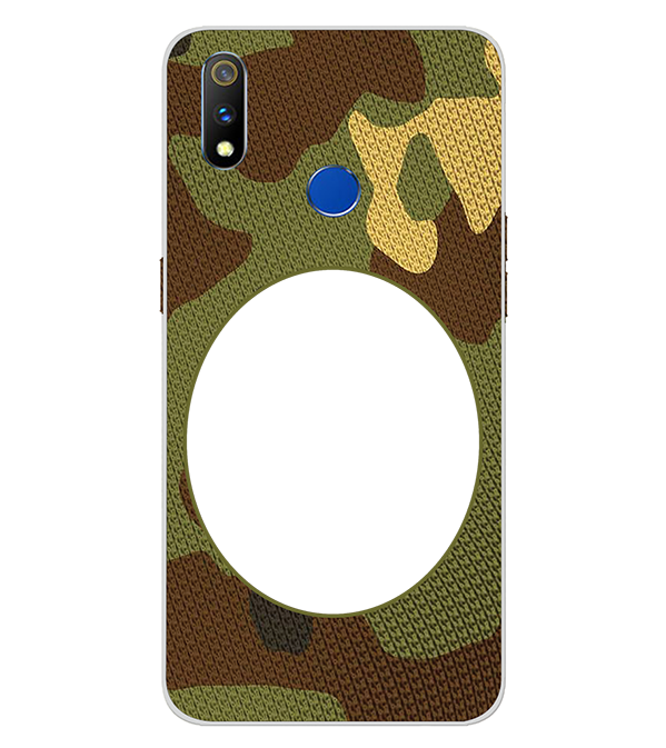 Camouflage Photo Back Cover for Realme 3 Pro