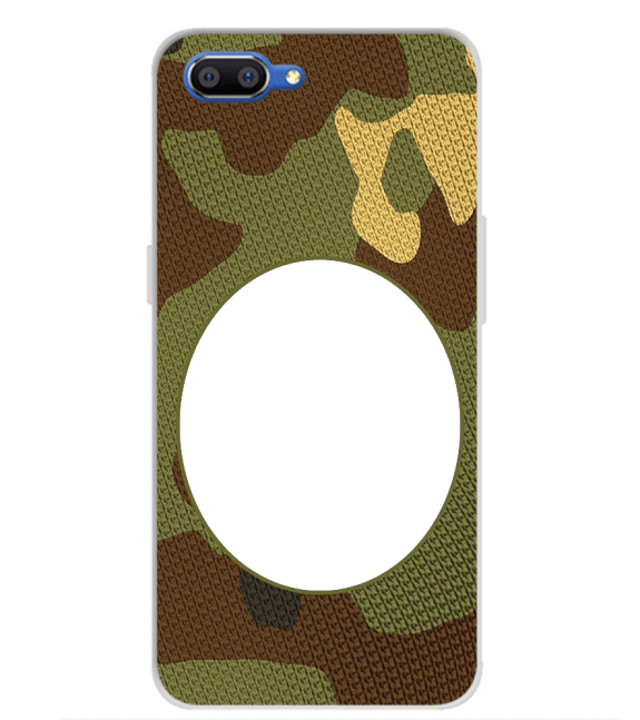 Camouflage Photo Back Cover for Realme C1 (2019)