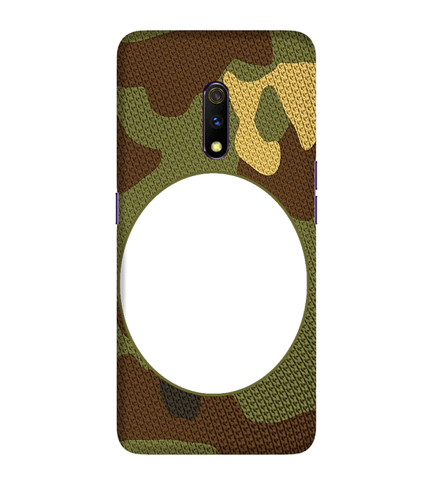 Camouflage Photo Back Cover for Realme X