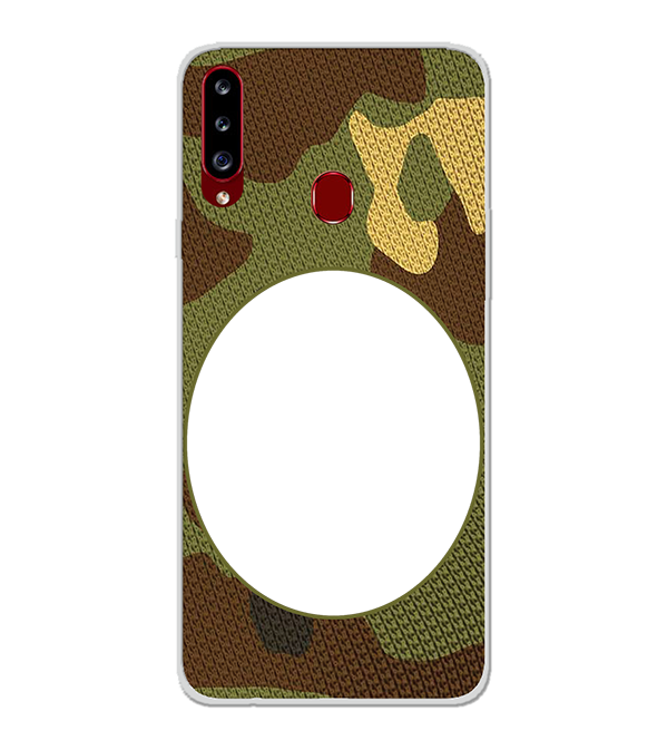 Camouflage Photo Back Cover for Samsung Galaxy A20s