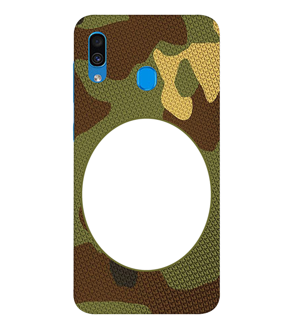 Camouflage Photo Back Cover for Samsung Galaxy A30