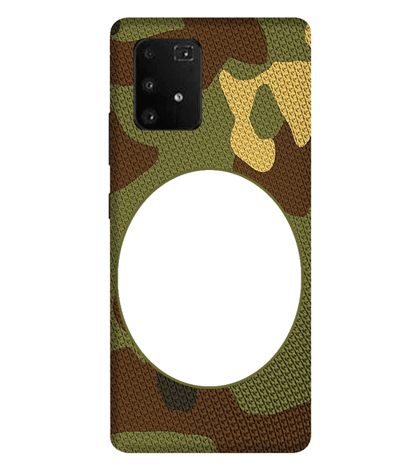 Camouflage Photo Back Cover for Samsung Galaxy A91