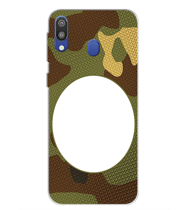 Camouflage Photo Back Cover for Samsung Galaxy M20