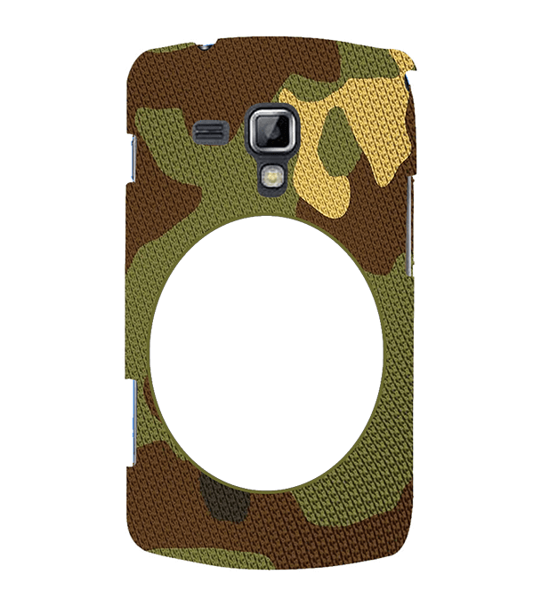 Camouflage Photo Back Cover for Samsung Galaxy S Duos and S Duos 2