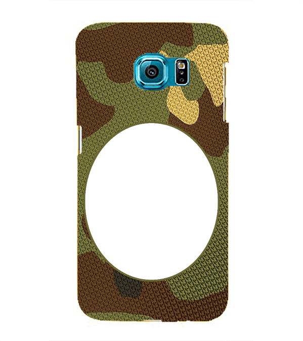 Camouflage Photo Back Cover for Samsung Galaxy S6 Edge