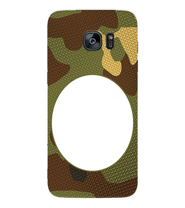 Camouflage Photo Back Cover for Samsung Galaxy S7 Edge