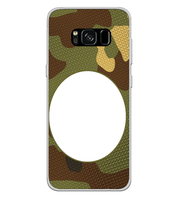 Camouflage Photo Back Cover for Samsung Galaxy S8
