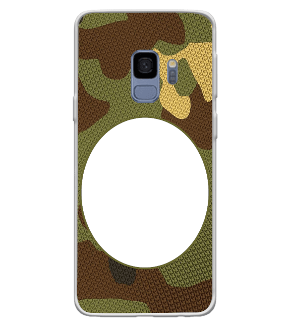 Camouflage Photo Back Cover for Samsung Galaxy S9
