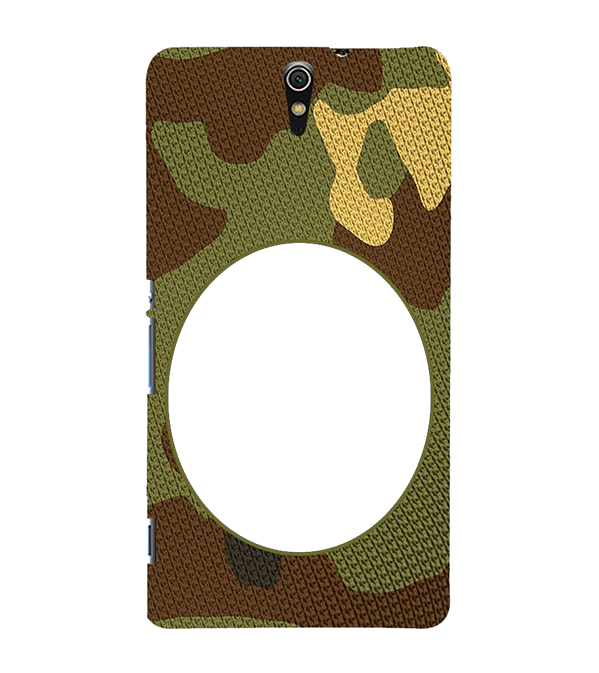 Camouflage Photo Back Cover for Sony Xperia C5