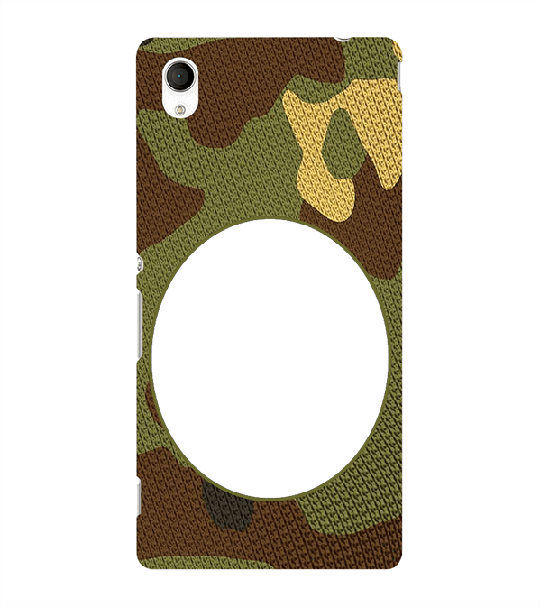 Camouflage Photo Back Cover for Sony Xperia M4 Aqua