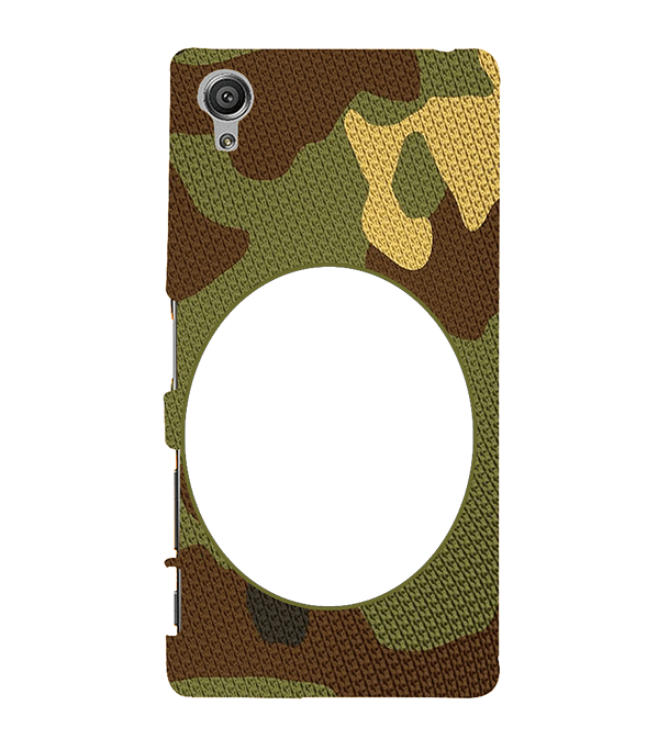 Camouflage Photo Back Cover for Sony Xperia X