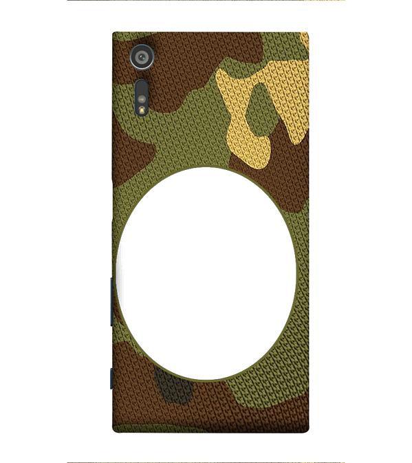 Camouflage Photo Back Cover for Sony Xperia XZ