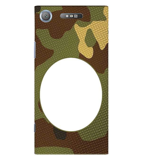 Camouflage Photo Back Cover for Sony Xperia XZ1