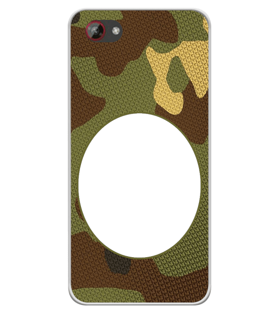 Camouflage Photo Back Cover for Spice F301