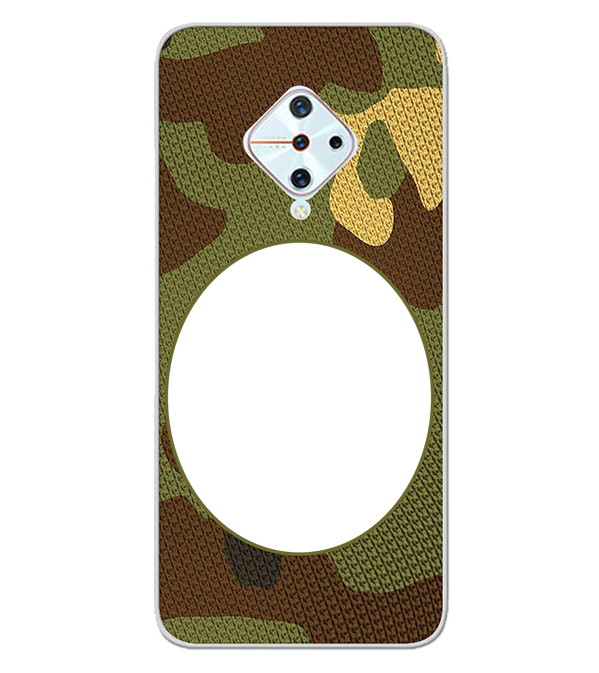 Camouflage Photo Back Cover for Vivo S1 Pro