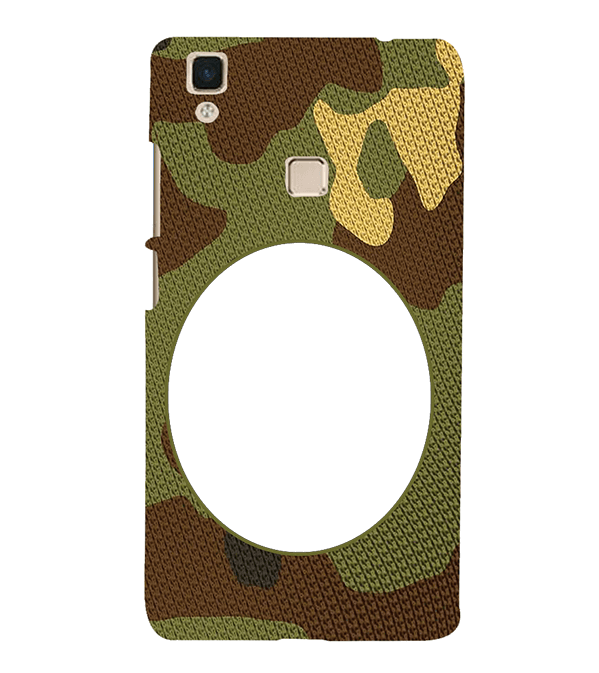 Camouflage Photo Back Cover for Vivo V3Max