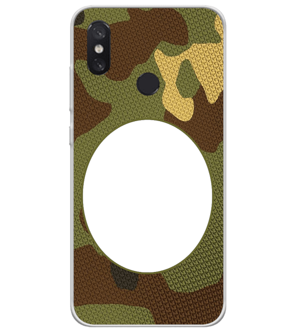 Camouflage Photo Back Cover for Xiaomi Mi 8