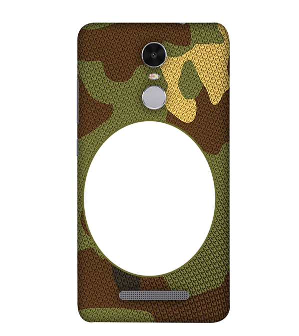 Camouflage Photo Back Cover for Xiaomi Redmi Note 4
