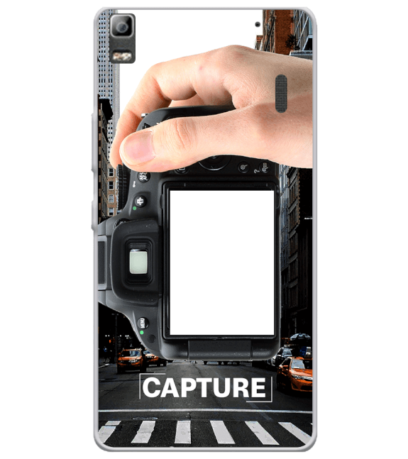 Capture Photo Back Cover for Lenovo A7000 and K3 Note