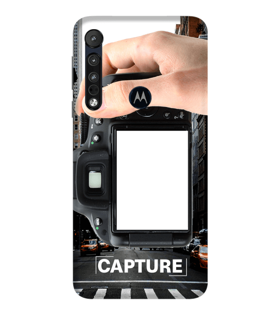Capture Photo Back Cover for Motorola One Macro