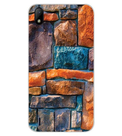 Colourful Stones Back Cover for Lava Z41