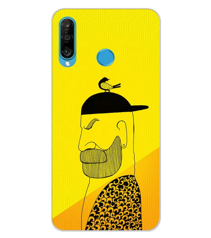 Common man Back Cover for Huawei P30 lite