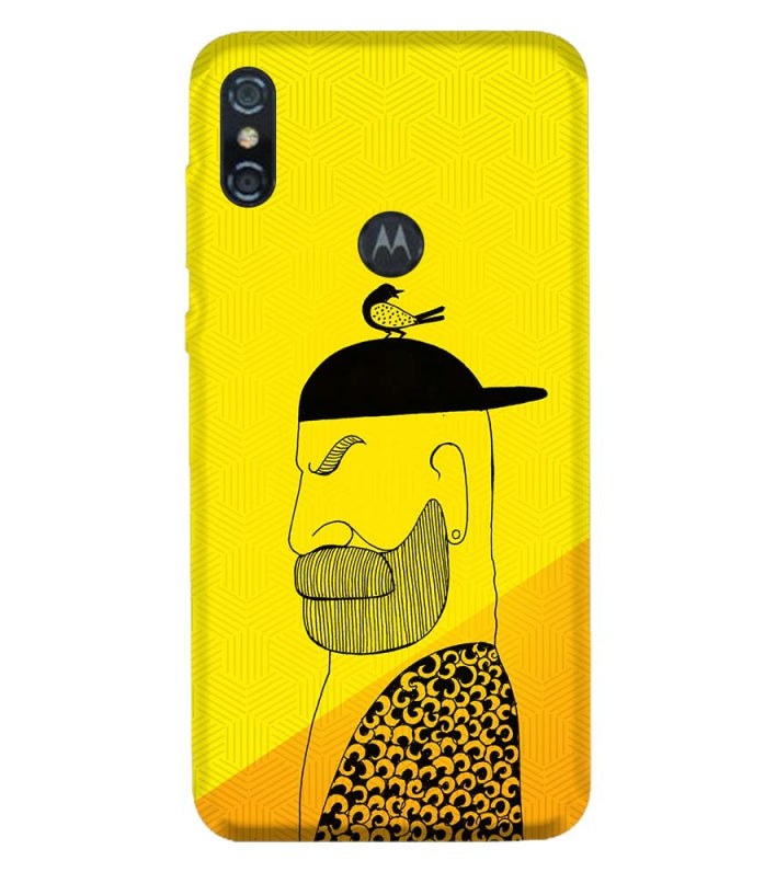 Common man Back Cover for Motorola One (P30 Play)