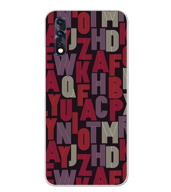 Cool Alphabets Back Cover for Vivo Z1x
