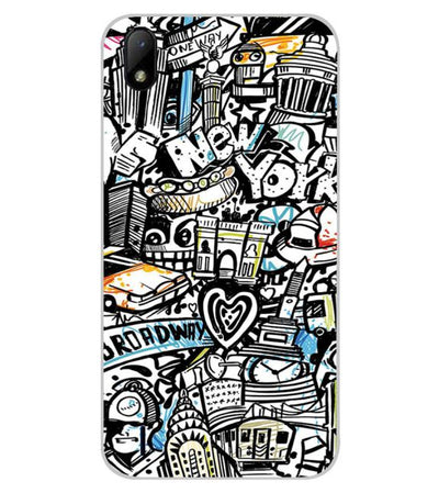 Cool Graffiti Back Cover for Lava Z41